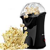 Hot Air Popcorn Popper, 1200W Electric Popcorn Maker, No Oil Needed Popcorn Machine for Home Use,...