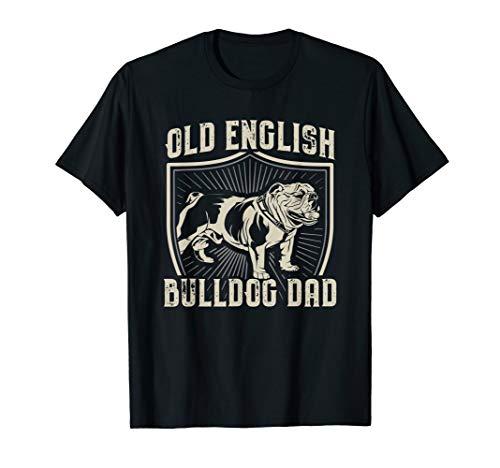 Herren Old English Bulldog Dad Hunde Geschenk Englische Bulldogge T-Shirt