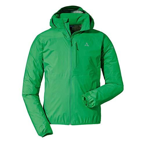 Schöffel Herren Jacket Toronto4 wind- und wasserdichte Herren Jacke mit verstaubarer Kapuze, atmungsaktive und verstaubare Hardshelljacke für Männer, grün (island green), 52