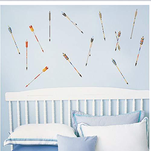 Colorido flecha etiqueta de la pared decoración del hogar sala de arte diy pvc vinilos decorativos para paredes niños stikers 127 * 75 cm