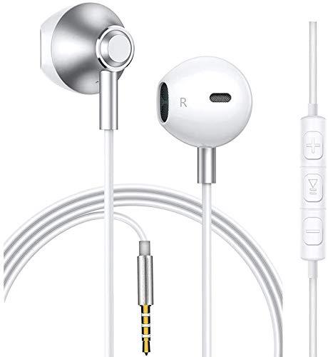 Auriculares con cancelación de ruido, auriculares in-ear potentes de alta definición con micrófono, auriculares deportivos originales de 3,5 mm para iPhone/Xiaomi/iPad/Huawei/Samsung