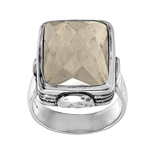 Silpada 'Amarillo' Pyrite and Sterling Silver Ring, Size 10