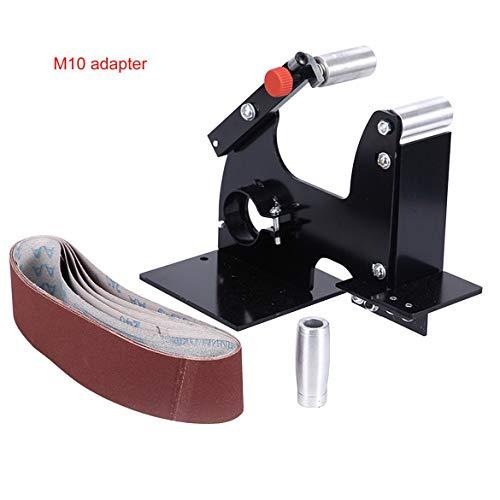 50mm Winkelschleifer Bandschleifer Aufsatz Metall Holz Schleifband Adapter für Schleifmaschine Schleifpoliermaschine - Schwarz