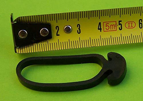 Tensor Tie Link en caucho puro. KMUB 5 cm (40 piezas). Fijación elástica, rápida y fiable. Para casa - jardín - camping - trastero. Estiramiento de 5 a 12,5 cm. Alta tensión.
