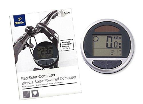 TCM Tchibo Solar Fahrradcomputer mit Funk-Datenübertragung