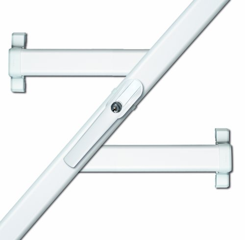 ABUS Fenster-Zusatzsicherung FOS550 AL0125 - Stangenschloss mit Druckzylinder, gleichschließend - ABUS-Sicherheitslevel 10 - 31793 - Weiß