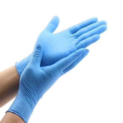 Guantes de Nitrilo Desechables Azules [ Sin Polvo y Sin Látex ] Caja 100 UNIDADES (Talla M)