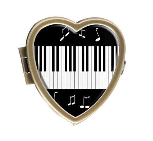 Cronriy Pillendose Klavier Durable Design Western Medizin Tablettenhalter Deko Pillendose für Tasche oder Geldbeutel