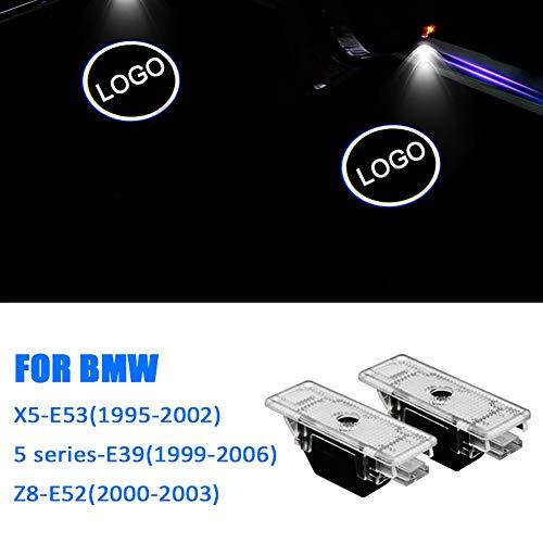 Acptxvh Auto-Willkommens-Licht 12V 5W Auto-Tür-LED-Laser-Projektor Logo-Geist-Schatten-Licht für BMW E90, E46, F11, E61, E60, F31 Projektionslampe,Weiß