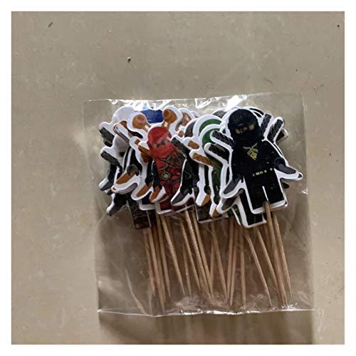 QIANXIMY Globos 10 unids/Lote 12inch Boys Kids Ninjago Theme Cumpleaños Fiesta de cumpleaños Látex Ninjago Ballons Fiesta Vajilla Baby Shower Party Supplies (Color : Toothpicks 12pcs)