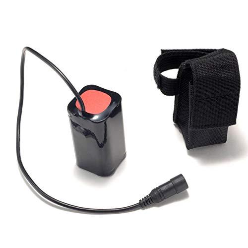 Unitedheart Batería de Litio 8.4V USB Recargable 6400mAh Batería 4x18650 Resaltador de 3 Horas para la lámpara de Cabeza de Bicicleta T6 LED Light
