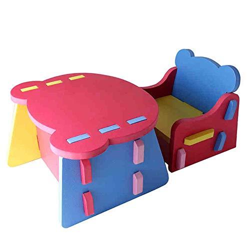 Sumferkyh Rehausseur de Poche Enfants Table Et Chaises Activité Enfants Art Set De Table Kiddie-Sized Meubles (Couleur : Rouge, Taille : 30x29x28cm)