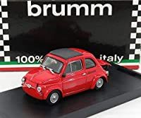 BRUMM(ブルム) イタリア製 フィアット ミニカー 1/43 FIAT 500 590GT N0 ジャンニーニ ヴァレルンガ 1969 [並行輸入品]
