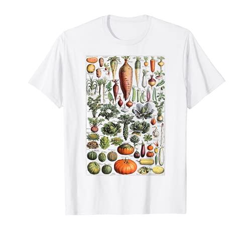 Tabella per l'identificazione delle verdure da cucina Maglietta