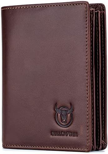 Mens Genuine Leather Wallet RFID Blocking Bifold Secure Stylish Wallets Multi Credit Card Holder product image