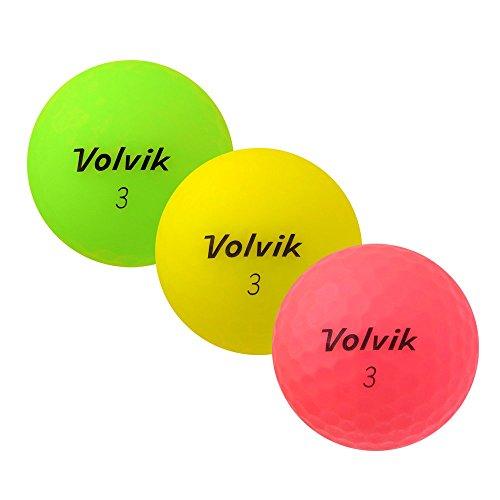 PEARL GOLF Volvik Vivid - AAAA - AAA - bunt - gebrauchte Golfbälle - 12 Lake Balls