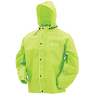 Frogg Toggs Road Toad Reflective Waterproof Rain Jacket, Hivis Green, XX-Large