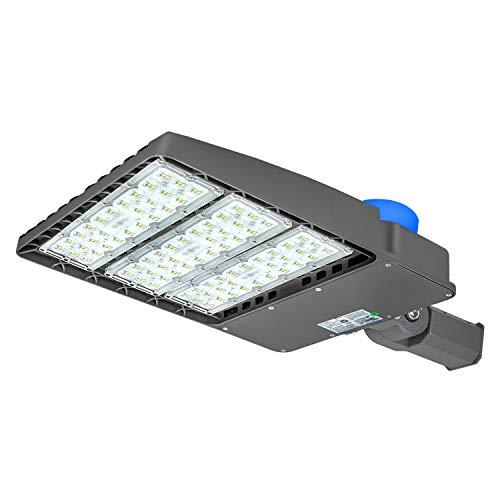 300W LED Parking Lot Lighting,with Dusk-to-Dawn Photocell Sensor,IP65 Waterproof LED Street Light,36,000 Lumens,100-277V LED Shoebox Area Light,1000W HPS Equivalent (Slip Fit 300W)