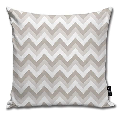 Funda de almohada Zig Zag en blanco y negro decorativo, funda de cojín para habitación, dormitorio, habitación, sofá, silla, coche, 50,8 x 50,8 cm