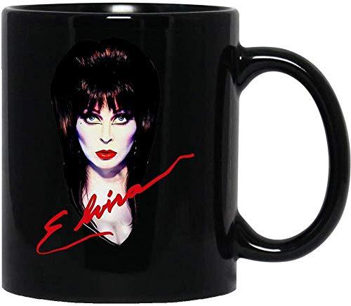 N\A Elvira The Mistress Dark Dreams Vampire Dracula Hallooween Taza de Regalo Taza de cerámica