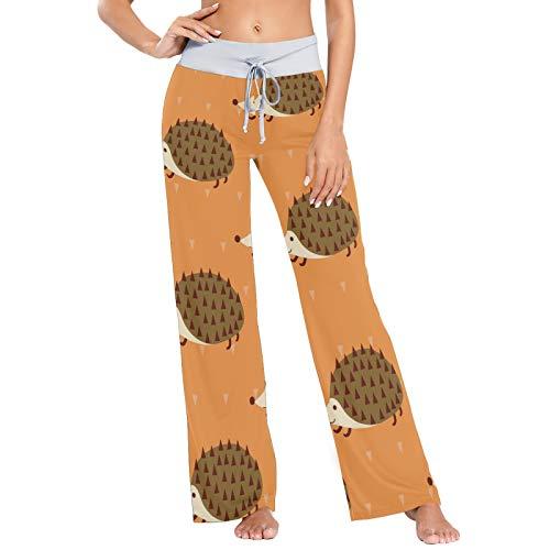 Pantalones de Pijama cómodos con cordón para Mujer Pantalones de Yoga de Pierna Ancha Casuales M Patrón sin Costuras de Erizo