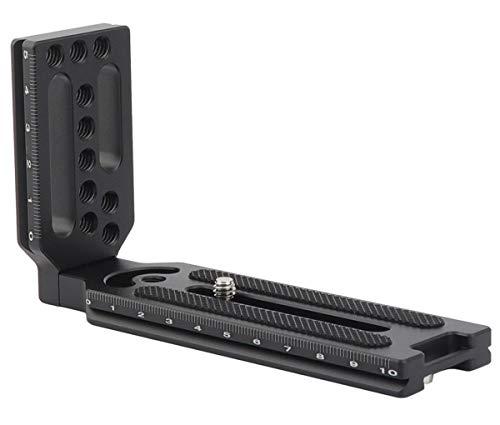 Zhiyou Universal L Winkel L Platte für Kameras, mit 1/4-20 Stativgewinde und Kompatibel mit Arca Swiss
