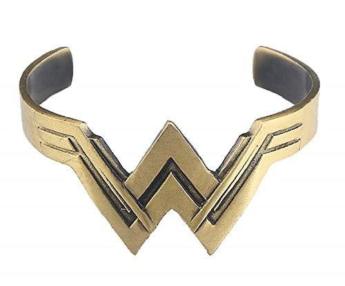 Braccialetto Wonder Donna Rigido accessorio per costume carnevale Super woman Colore Bronzo Ottima Idea Regalo