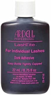 Ardell - Lashtite Adhesive, Bottle (0.75 fluid ounce) (Dark), (4-Pack)