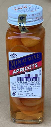 ミナツネ 西洋あんずシロップ漬(ガラス瓶入り)APRICOTS 295g×3個