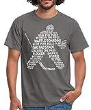 Eishockey Torwart Begriffe Eishockeyspieler Männer T-Shirt, S, Graphit