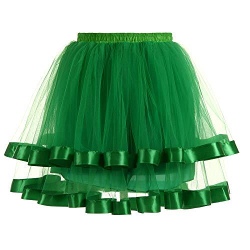 HEling Mujeres Faldas Enaguas Cortas Tul Plisada Fiesta Tutu Distintas Colores Falda Disfraz Ballet