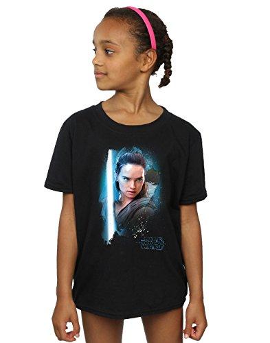 Star Wars niñas The Last Jedi Rey Brushed Camiseta