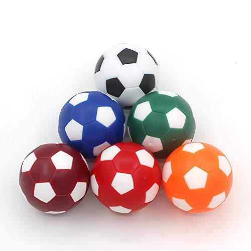 CS COSDDI 6 Pieces Table Football Soccer Balls 32/36 mm Table Football Mini Ball Coloured Table Football