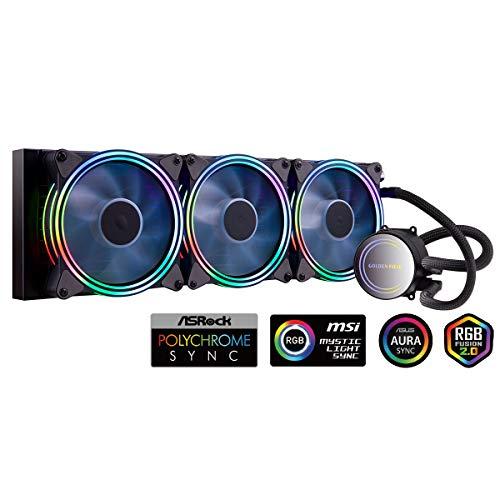 Golden Field ICY Chill Series Advanced RGB líquido enfriador de CPU con sistema de refrigeración por agua para refrigeración de CPU Intel AMD Socket 360mm