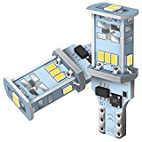 AUXITO T16 LED バックランプ 爆光1300ルーメン キャンセラー内蔵 バックランプ T16 / T15 3020LED10連 24ヶ月保証 12V 無極性 ホワイト 後退灯 バックライト 50000時間以上寿命 (2個セット)