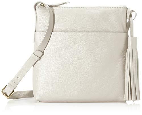 Clarks Bolso para mujer Topsham Shine, 1 x 1 x 1 cm, color Blanco, talla 1x1x1 cm (B x H x T)