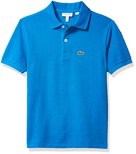 Lacoste Boys' Toddler Short Sleeve Classic Pique Polo Shirt, Nattier Blue, 1YR