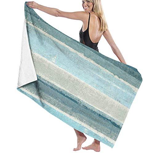 LREFON Toallas Pintura Abstracta Gris Moderna Azul y Gris Ultra Suave sin Arena para la Ducha,Toallas de baño, Fitness, Deportes al Aire Libre
