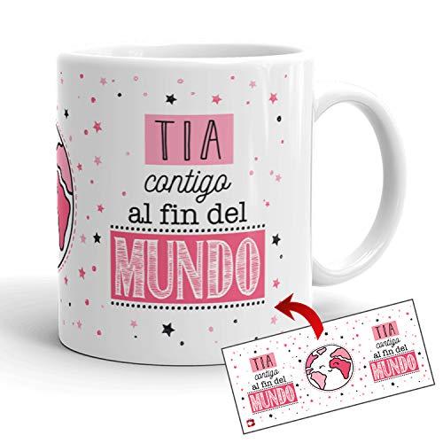 Kembilove Tazas de Café para Familiares – Taza con Mensaje Tía contigo...