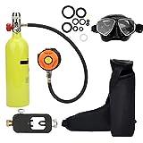 Bombola Portatile, Alluminio Aeronautico 1L Mini Bombola di Ossigeno da 15 a 20 min Respiratore...