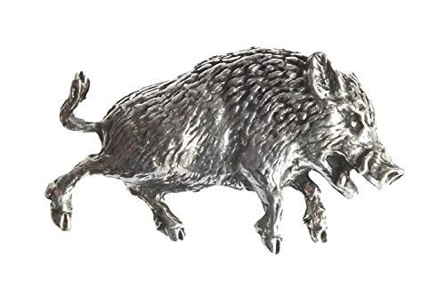 Zinn-Anstecker Wildschwein, Tier/Natur, handgefertigt
