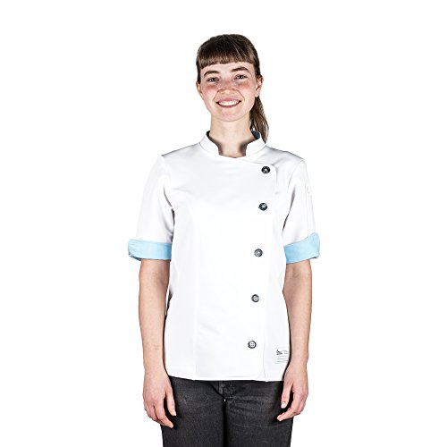Crew Apparel Women's Chef Coat The Stephany Made in America (L, White)