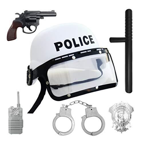 Amosfun 6 Piezas de Disfraz de policía para niños favorece la Fiesta de rol de policía Accesorios de Vestuario Juguete Educativo para Disfraces de Halloween