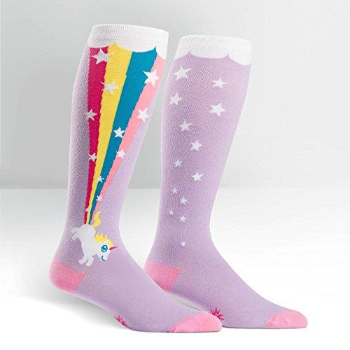 Sock It To Me Frauen-Kniestrümpfe - Rainbow Blast - Extra dehnbares Material für kräftigere Waden - Regelmäßige Größe auch vorhanden