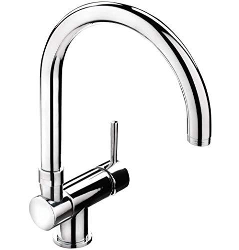 Einhebelmischer Für Küchenspüle | Chrome | 78 Mm Einbauhöhe | Waschbecken | Reversible Für Unterfenstermontage