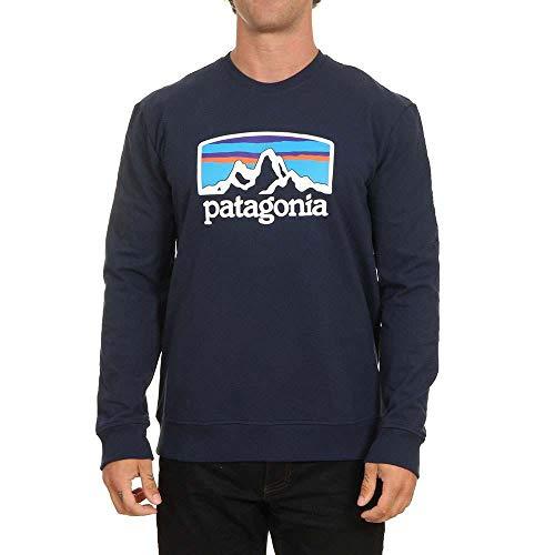 Patagonia M Fitz Roy Horizons Uprisal Crew Sweatshirt Blau, Herren Freizeitpullover, Größe XL - Farbe Classic Navy