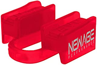 New Age Performance 6DS Sports and Fitness Weight-Lifting Mouthpiece - Lower Jaw - No-Contact - Includes Case - Red