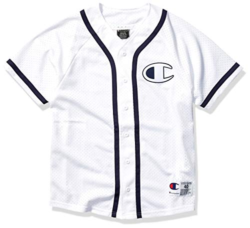 Champion LIFE Men's Mesh Baseball Jersey, White, 2X Large