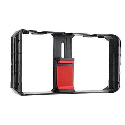 Mobiele telefoonstabilisator, mobiele camerastabilisator, ondersteuning voor externe microfoons en LED-cameralichten, op grote schaal gebruikt voor het fotograferen van mobiele telefoons, live-uitzend