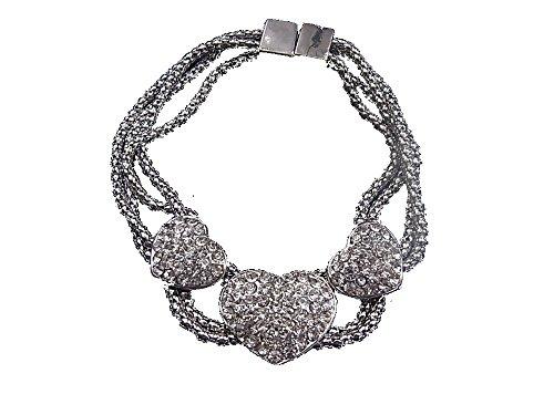 Bracciale gioielli bracciale braccialetto Reig Cuore Strass chiusura magnetica